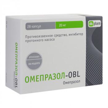 ОМЕПРАЗОЛ-OBL КАПС. 20МГ №28 в Екатеринбурге