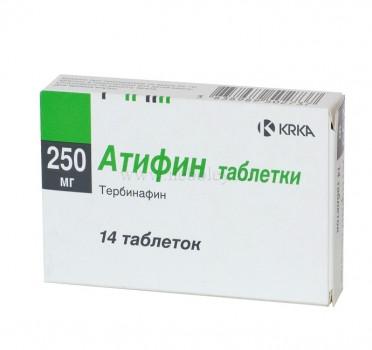 АТИФИН ТАБ. 250МГ №14 в Чебоксарах