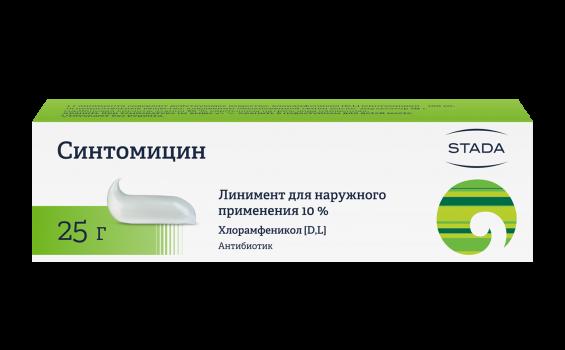 СИНТОМИЦИН ЛИНИМЕНТ 10% 25Г НИЖ в Екатеринбурге