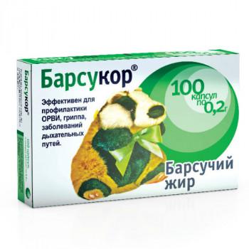 БАРСУКОР БАРСУЧИЙ ЖИР КАПС. 200МГ №100 БАД в Твери
