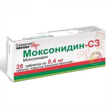 МОКСОНИДИН-СЗ ТАБ. П.П.О. 0.4МГ №28 в Ярославле