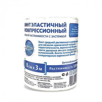 БИНТ ЭЛАСТИЧНЫЙ СР 3МХ8СМ (ЗАСТЕЖКА) ИТК в Екатеринбурге