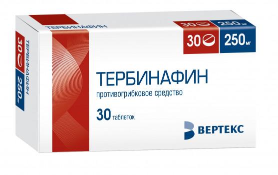 ТЕРБИНАФИН ТАБ. 250МГ №30 ВРТ в Екатеринбурге
