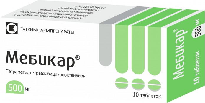 МЕБИКАР ТАБ. 500МГ №20 в Екатеринбурге
