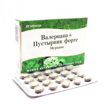 ВАЛЕРИАНА+ПУСТЫРНИК ФОРТЕ ТАБ. №60 (МЕРЦАНА) БАД в Ярославле