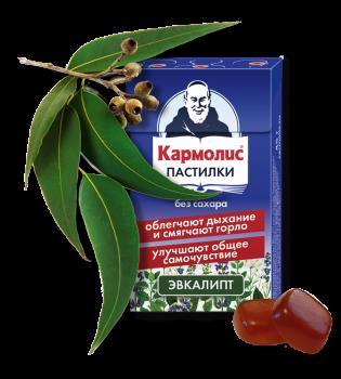 КАРМОЛИС ПАСТИЛКИ Б/САХАРА ЭВКАЛИПТ 45Г в Туле