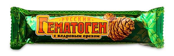 ГЕМАТОГЕН РУССКИЙ КЕДРОВЫЙ ОРЕХ 40Г БАД в Хабаровске