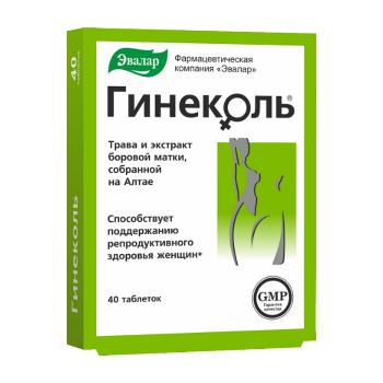 ГИНЕКОЛЬ ТАБ. П.О 240МГ №40 БАД в Екатеринбурге
