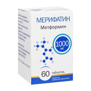 МЕРИФАТИН ТАБ. П.П.О. 1000МГ №60 в Чебоксарах