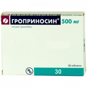 ГРОПРИНОСИН ТАБ. 500МГ №30 в Хабаровске
