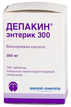 ДЕПАКИН ЭНТЕРИК 300 ТАБ. П.О КШ/РАСТВ 300МГ №100 в Челябинске