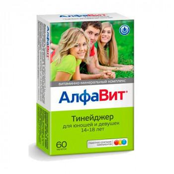 АЛФАВИТ ТИНЕЙДЖЕР ТАБ. ЖЕВ. №60 БАД в Екатеринбурге