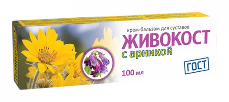 ЖИВОКОСТ КРЕМ-БАЛЬЗАМ С АРНИКОЙ ДЛЯ СУСТАВОВ 100МЛ в Хабаровске