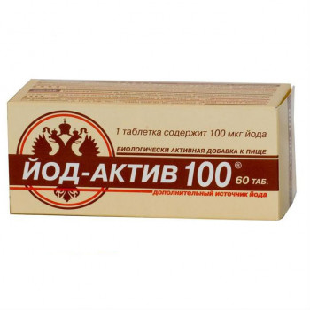 ЙОД-АКТИВ 100 ТАБ. №60 БАД в Чебоксарах