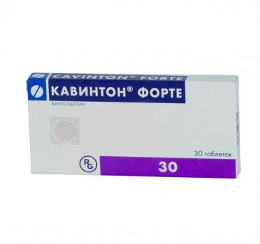 КАВИНТОН ФОРТЕ ТАБ. 10МГ №30 ГРФ в Ярославле