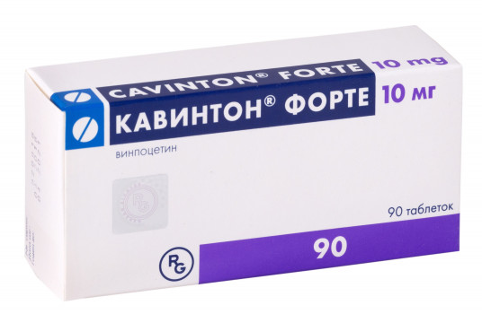 КАВИНТОН ФОРТЕ ТАБ. 10МГ №90 ГРФ в Челябинске