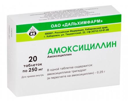 АМОКСИЦИЛЛИН ТАБ. 250МГ №20 ДХФ в Чебоксарах