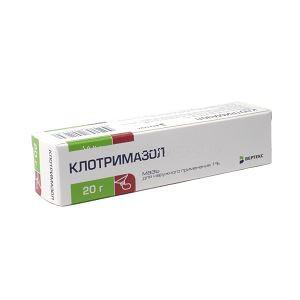 КЛОТРИМАЗОЛ МАЗЬ 1% 20Г ВРТ в Ярославле