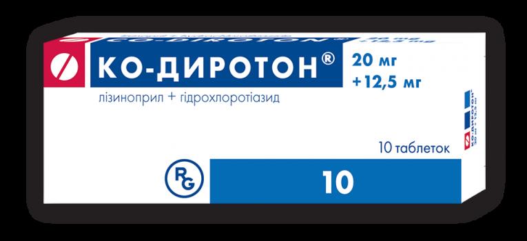 КО-ДИРОТОН ТАБ. 20МГ+12,5МГ №10 в Туле
