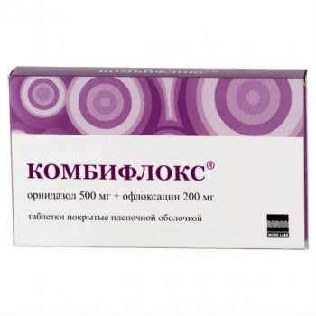 КОМБИФЛОКС ТАБ. П.П.О. 500МГ+200МГ №20 в Чебоксарах