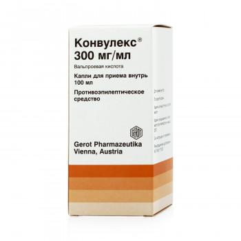 КОНВУЛЕКС КАПЛИ 300МГ/МЛ 100МЛ в Красноярске