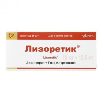 ЛИЗОРЕТИК ТАБ. 10МГ+12,5МГ №28 в Чебоксарах
