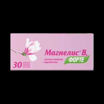 МАГНЕЛИС B6 ФОРТЕ ТАБ. П.О 100МГ+10МГ №30 в Чебоксарах