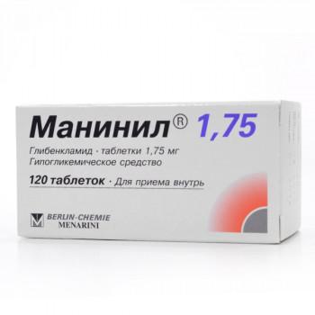 МАНИНИЛ 1.75 ТАБ. 1.75МГ №120 в Екатеринбурге