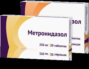 МЕТРОНИДАЗОЛ ТАБ. 500МГ №20 ОЗН в Томске