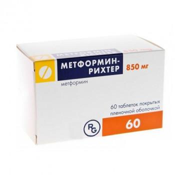 МЕТФОРМИН-РИХТЕР ТАБ. П.П.О. 850МГ №60 в Ярославле